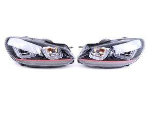 ES#3108215 - PR0YDVG10V3RBK - MK7 GTI Style Projector Headlight Set - Add MK7 GTI styling to your MK6! - Spyder - Volkswagen
