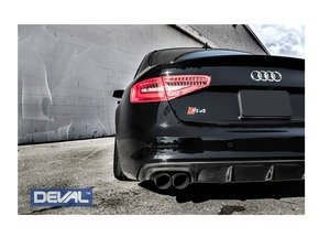 ES#3142811 - D28244 - Carbon Fiber Rear Diffuser - Delivers an unmatched combination of aggressiveness and luxury elegance - Deval - Audi