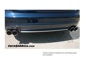 ES#3142794 - AS410-CFRV4 - Carbon Fiber Rear Valance w/o Rear Splitter - Delivers an unmatched combination of aggressiveness and luxury elegance - Deval - Audi