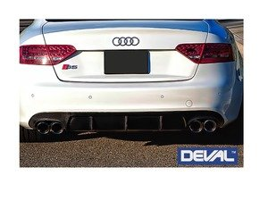 ES#3142813 - D29234 - Carbon Fiber Rear Diffuser - Delivers an unmatched combination of aggressiveness and luxury elegance - Deval - Audi