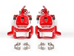ES#3160799 - S2976 - Remanufactured Rear Brake Calipers - Pair - Restore braking performance with bright red powdercoated parts - Power Stop - Volkswagen