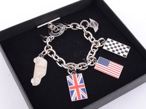 ES#2684039 - 80902352310 - Ladies MINI Flag Bracelet  - Mutlt Flag Charm Bracelet - Genuine MINI - MINI