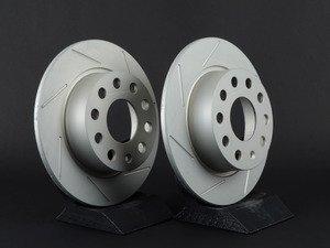 ES#3048210 - 007921ECS01-02KT - Rear Slotted Brake Rotors - Pair (253x10) - Featuring GEOMET protective coating. - ECS - Audi Volkswagen