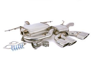 "ES#3142891 - HS14GFRG3S - 3"" Cat-Back Exhaust System - Resonated - Featuring quad oval, stainless steel tips - Invidia - Volkswagen"