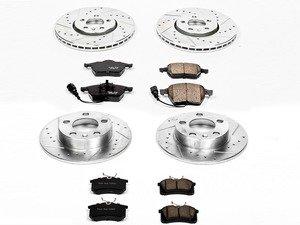 ES#3157891 - K899 - Z23 Evolution Sport Performance Front & Rear Brake Service Kit (288x25 / 232x9) - Proven performance with minimal dust - Power Stop - Volkswagen