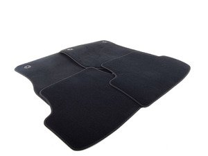 ES#3534026 - 5GM863011AEUN - Carpeted Floor Mat Set - Black - Keep your interior showroom fresh with a new set of four black floor mats - Genuine Volkswagen Audi - Volkswagen