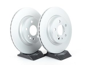 ES#2570092 - 140423041264KT2 - Rear Brake Rotors - Set Of Two - Featuring a protective Meyle Platinum coating - Meyle - Mercedes Benz