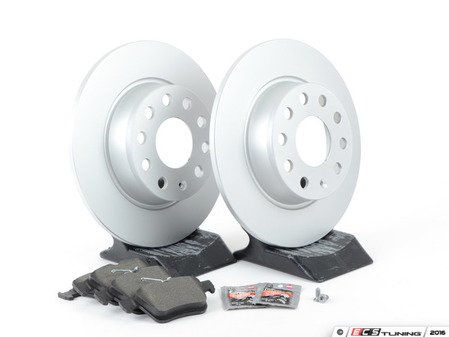 ES#2975817 - 1K0615301AAAKT2 - Rear Brake Service Kit - Featuring Meyle rotors and Textar Semi Metallic pads - Assembled By ECS - Audi