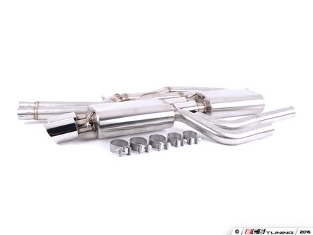 "ES#3125911 - FPIM-0574 - Sport Cat-Back Exhaust System - 2.5"" stainless steel with quad 3.5"" double wall tips - Billy Boat Performance - Audi"