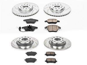 ES#3156478 - K2260 - Z23 Evolution Sport Performance Front & Rear Brake Service Kit (312x25/282x12) - Proven performance with minimal dust - Power Stop - Volkswagen