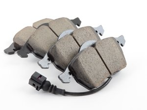 ES#1306809 - EUR687 - Front Euro Ceramic Brake Pad Set - With Sensors - Ceramic composite developed to meet low dust & noise requirements - Akebono - Audi Volkswagen