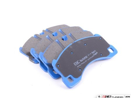 ES#2620854 - DP51835NDX - Front BlueStuff NDX Performance Brake Pad Set - Intermediate grade trackday pads for aggressive street driving and track use. - EBC - Volkswagen Porsche