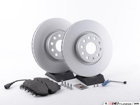 ES#2975816 - 1K0615301AAAKT1 - Front Brake Service Kit - Featuring Meyle rotors and Textar semi metallic pads - Assembled By ECS - Audi
