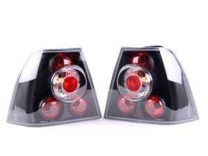 ES#3021583 - LTJET99JMTM - Sedan Tail Light Set - Black - Stylish aftermarket tail lights for your MK4 Jetta sedan with a black housing - Spec-D Tuning - Volkswagen