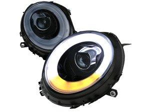 ES#3170822 - 2LHP-MINI06G-V2- - Projector Glossy Black V2 LED DRL Headlights - Pair 2LHP-MINI06G-V2-TM - F56 Style LED DRL and Glossy Black/ Chrome housing halogen projector headlight set! - Spec-D Tuning - MINI