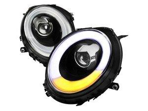 ES#3170823 - 2LHP-MINI06JM-V2 - Projector Black V2 LED DRL Headlights - Pair 2LHP-MINI06JM-V2-TM - F56 Style LED DRL and Matte Black housing halogen projector headlight set! - Spec-D Tuning - MINI