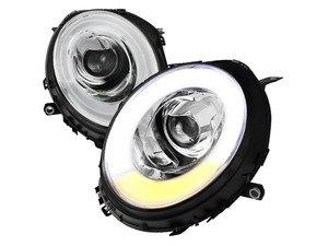 ES#3170827 - 2LHP-MINI06-V2-T - Projector Chrome V2 LED DRL Headlights - Pair 2LHP-MINI06-V2-TM - F56 Style LED DRL and Chrome housing halogen projector headlight set! - Spec-D Tuning - MINI