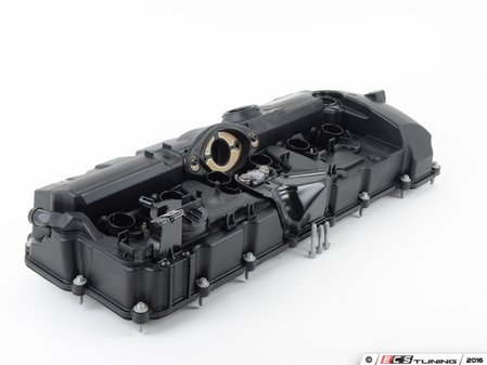 ES#3170074 - 11127552281KT - Valve Cover Kit - Includes new cover with built in PCV, hardware and valve cover gaskets - Genuine BMW - BMW