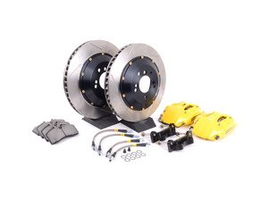 ES#3118017 - 83.133.4600.81 - StopTech front 4 piston big brake kit (332x32mm)  - Comes with 4 piston yellow calipers, 2 piece uncoated slotted rotors and stainless steel brake lines. - Includes brackets and mounting bolts - StopTech - BMW