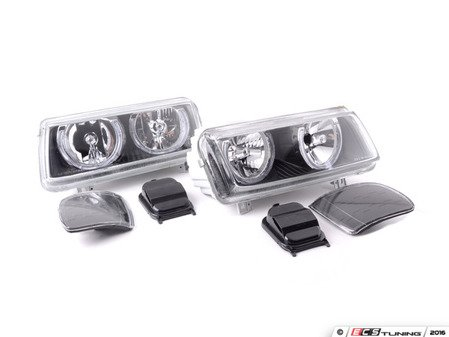 ES#2808790 - FKFSVW9433 - Angel Eyes Headlights - Blackout - Convert your standard headlights to dual round headlights with angel eyes - FK - Volkswagen