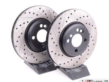 ES#2594867 - 34116858652XSKT - Performance Front Brake Service Kit - Featuring ECS V4 Slotted/Drilled rotors and Hawk HPS pads - Assembled By ECS - MINI