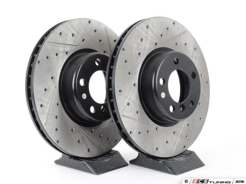 stoptech 34106797602cds cross drilled slotted brake. Black Bedroom Furniture Sets. Home Design Ideas
