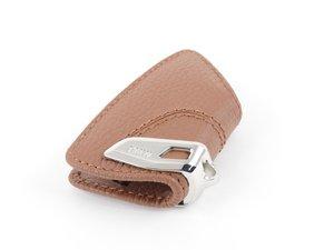ES#2987548 - 82292408818 - Genuine BMW Sattelbraun Key Case w/ Stainless Steel Clip - Add style to your keychain! - Genuine BMW - BMW