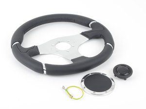 ES#3135807 - MIL35BK1P - MOMO Millenium Steering Wheel - 350mm  - Customize your driving experience with this fine leather steering wheel - MOMO - Audi BMW Volkswagen Mercedes Benz MINI Porsche