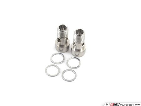 ES#3176242 - 06A145541JKT -  Turbo Coolant Line Install Kit (Supply) - Consists of banjo bolts and crush washers for a complete supply line install - Assembled By ECS - Audi