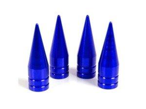 """ES#3170886 - 4PCBLUVSSPIKES - Spike Valve Stem Caps - Blue  - Lightweight anodized spike valve stem caps measuring 1.25"""" high! - Sickspeed - BMW Volkswagen MINI"""