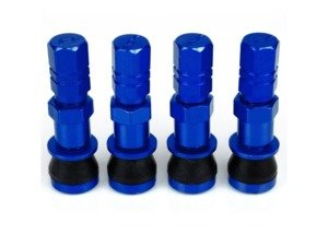 ES#3170874 - 4PCVSW/CAPBLU - Aluminum Valve Stems With Hex Caps - Blue - Lightweight anodized valve stems with hex caps - Sickspeed - BMW Volkswagen