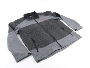 ES#3152001 - DRG002996GRYXL - GTI Softshell Jacket - Gray - XL - Breeze to the finish line with this GTI Performance Softshell Jacket. - Genuine Volkswagen Audi - Volkswagen