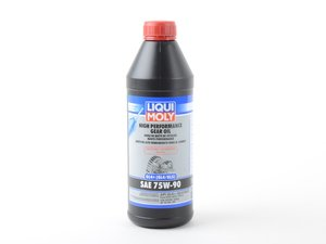 ES#3170913 - 20012 - Manual Transmission / Differential Fluid 75w90 - 1 Liter - Fully synthetic GL4+ gear oil, for use on the street or the track - Liqui-Moly - Audi BMW Volkswagen Mercedes Benz Porsche
