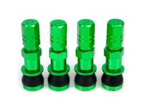 ES#3170904 - 4PCVSW/CAPGRN - Aluminum Valve Stems With Hex Caps - Green  - Lightweight anodized valve stems with hex caps - Sickspeed - BMW Volkswagen MINI