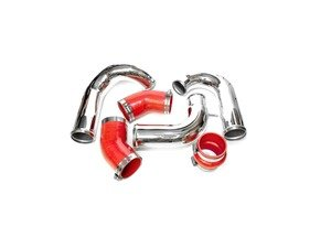 """ES#3176097 - ATP-VVW-197red - Charge Pipe Set For FMIC - Red Couplers  - 2.5"""" mandrel bend charge pipes with multi-layer red silicone hoses - ATP -"""
