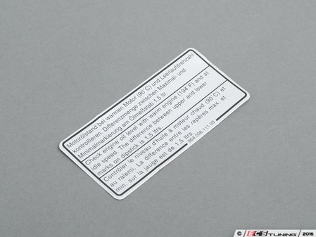 ES#1457770 - 96400611100 - ENGINE OIL LABEL. - Genuine Porsche -