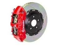 ES#3176226 - 1N2.9054A2 - Brembo GT Front Big Brake Kit - 2 Piece Type 2 Slotted Rotors (380x34) - Featuring Red 6 piston calipers, stainless brake lines, and brembo sport brake pads - Brembo - Audi
