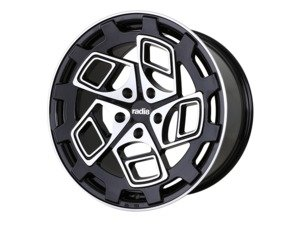 "ES#3176108 - cm919855112bmfKT - 19"" R8CM9 - Set Of Four  - 19""x8.5"" ET45 5x112 - Black/Machined Face - Radi8 - Volkswagen"