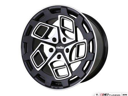 """ES#3438457 - cm92085511245KT - 20"""" R8CM9 - Set Of Four - 20""""x8.5"""" ET45, 5x112, 66.56CB - Gloss Black / Machined Face - Radi8 - Audi"""