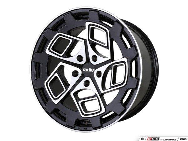 "ES#3438470 - cm92010511242KT1 - 20"" R8CM9 - Set Of Four - 20""x10"" ET42, 5x112 - Glossy Black / Machined Face Finish - Radi8 - Audi"