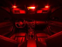 ES#3137465 - 019396ECS01KT - Master LED Interior Lighting Kit - Red - Transform your complete interior in minutes with new LED interior bulbs from Ziza - ZiZa - Audi
