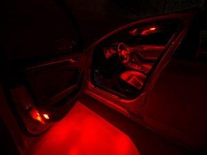 ES#3137497 - 019396ECS01KT5 - LED Door Puddle Lighting Kit - Red - Transform you door puddle lighting with new LED bulbs from Ziza - ZiZa - Audi