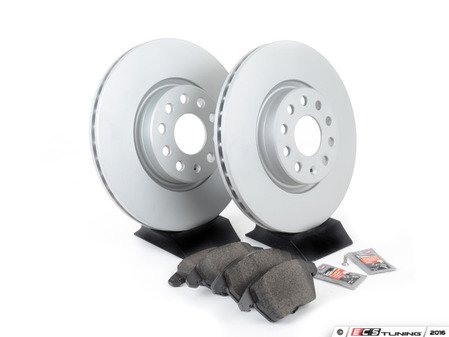 ES#3173579 - 1k0615301aecoKT - Economy Ceramic Front Brake Service Kit (312x25) - Coated Zimmerman Rotors and Jurid Ceramic Brake pads - Only the essentials to perform a brake service - Assembled By ECS - Volkswagen