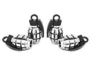 "ES#3176349 - 4PCPOLVSGRENADE - Grenade Valve Stem Caps - Polished - Lightweight anodized spike valve stem caps measuring 1.57"" high - Sickspeed - BMW Volkswagen MINI"