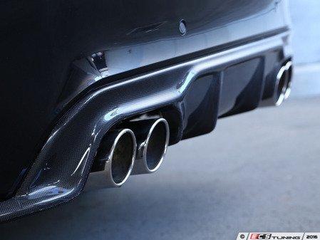 ES#3175943 - 3108-28611 - Carbon Fiber Rear Diffuser - Quad Exhaust - Individualize your BMW's looks with this carbon fiber rear diffuser - 3D Design - BMW