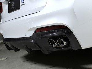 ES#3175926 - 3108-21611 - Carbon Fiber Rear Diffuser - Quad Exhaust - Individualize your BMW's looks with this carbon fiber rear diffuser - 3D Design - BMW