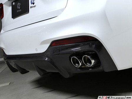 ES#3175926 - 3108-21611 - Carbon Fiber Rear Diffuser - Quad Exhaust - Individualize your BMW's looks with this carbon fiber rear diffuser - 3D Design - BMW