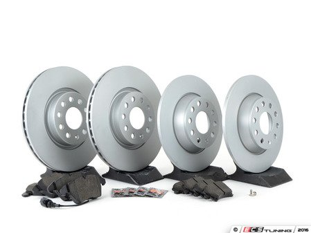 ES#3173602 - 1k0615301aaecKT1 - Economy Semi-Metallic Front & Rear Brake Service Kit (312x25 / 282x12) - Coated Meyle Rotors and Vaico Semi-Metallic Brake pads - Only the essentials to perform a brake service - Assembled By ECS - Volkswagen