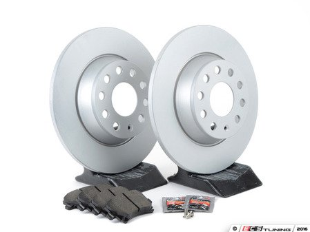 ES#3173591 - 1k0615601adecKT1 - Economy Semi-Metallic Rear Brake Service Kit (282x12) - Coated Meyle Rotors and Vaico Semi-Metallic Brake pads - Only the essentials to perform a brake service - Assembled By ECS - Volkswagen