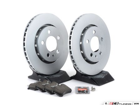 ES#3173669 - 1J0698014KT4 -  Economy Rear Brake Service Kit (256x22) - Coated Meyle Rotors and Vaico Brake pads - Only the essentials to perform a brake service - Assembled By ECS - Volkswagen